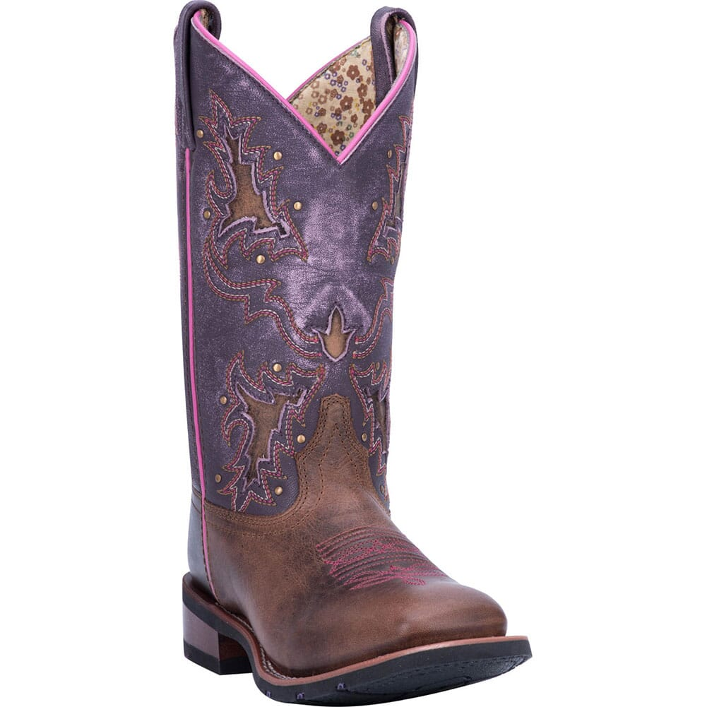 Image for Laredo Women's Lola Western Boots - Tan/Purple from bootbay
