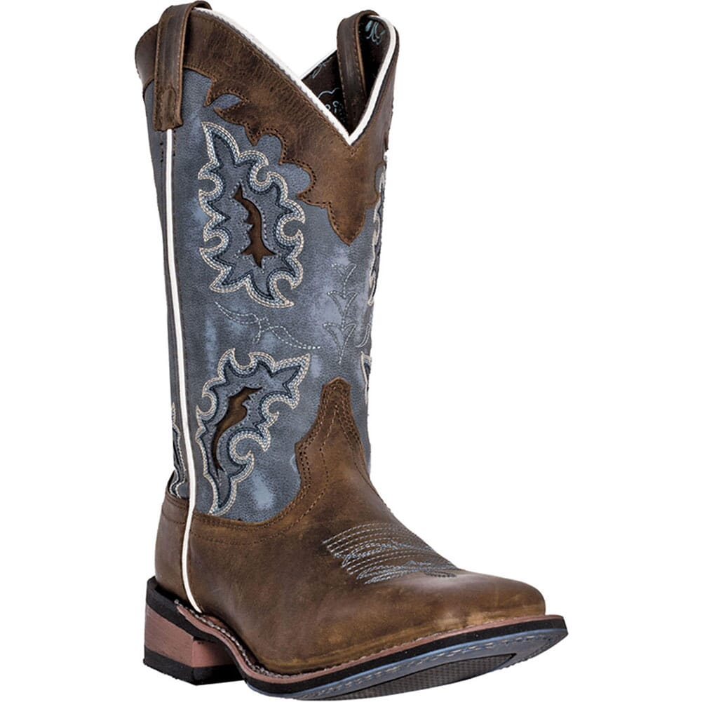 Image for Laredo Women's Isla Western Boots - Blue/Tan from elliottsboots