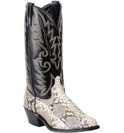 Image for Laredo Men's Python Snake Western Boots - Natural from bootbay