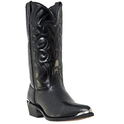 Image for Laredo Men's Lizard Print Classic Western Boots - Black from bootbay
