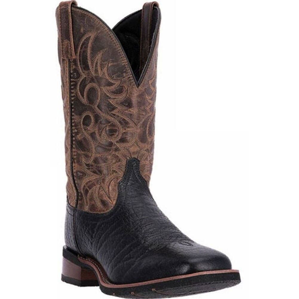 Image for Laredo Men's Topeka Western Boots - Black/Brown from bootbay