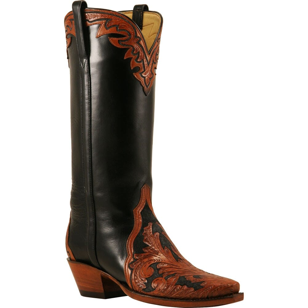 Image for Lucchese Women's Hand Tooled Western Boots - Black from elliottsboots