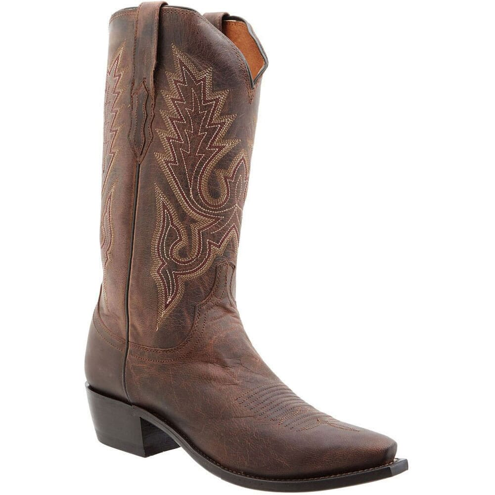 Image for Lucchese Men's Lewis Western Boots - Chocolate from bootbay
