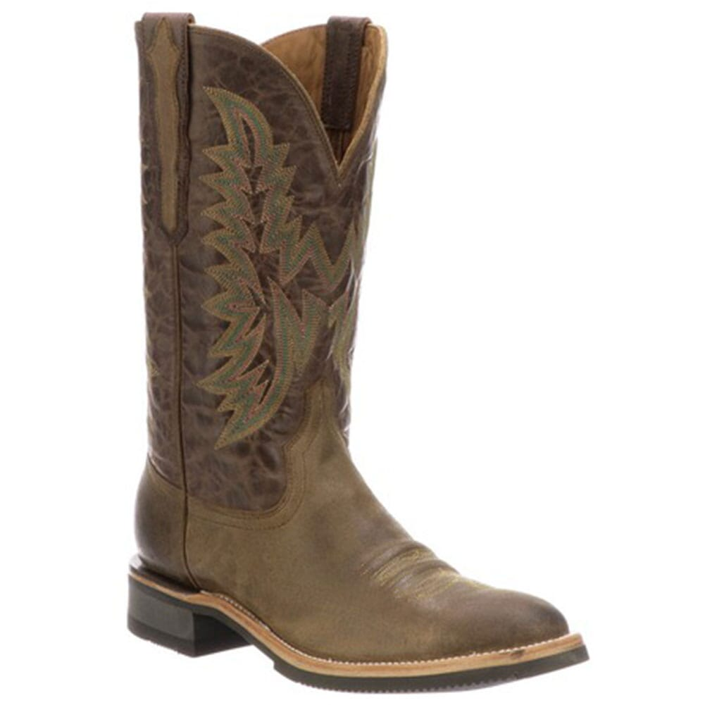 Image for Lucchese Men's Rusty Western Boots - Olive/Chocolate from bootbay