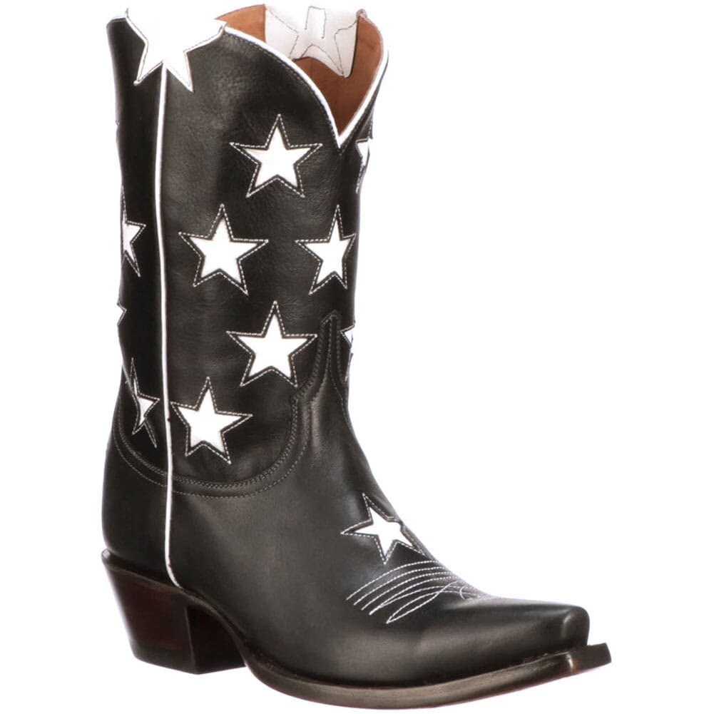 Image for Lucchese Women's Estrella Western Boots - Black Star from elliottsboots