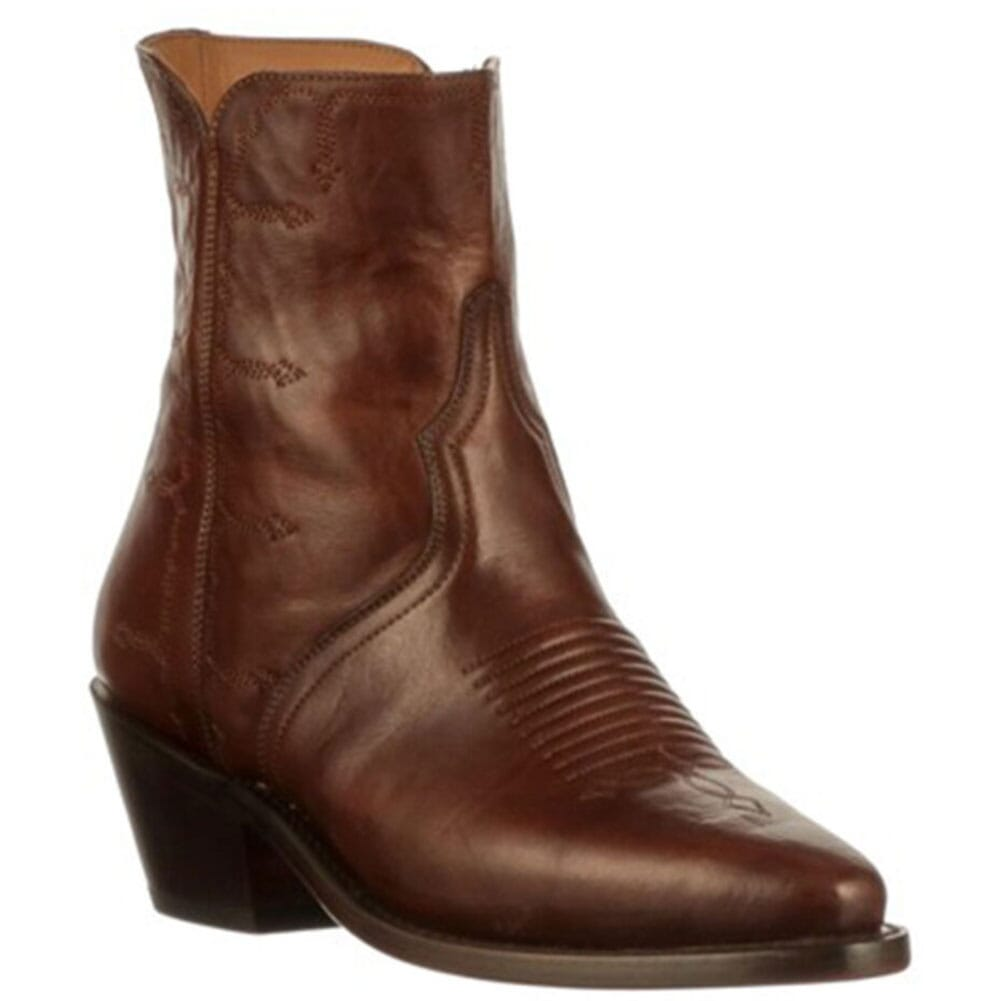 Image for Lucchese Women's Side Zip Western Boots - Chocolate from elliottsboots