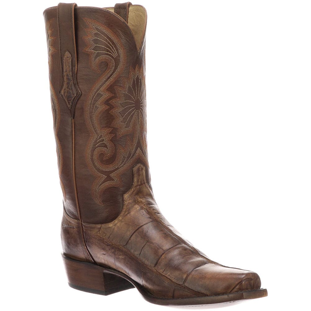 Image for Lucchese Men's Rio Western Boots - Brown/Tan from bootbay