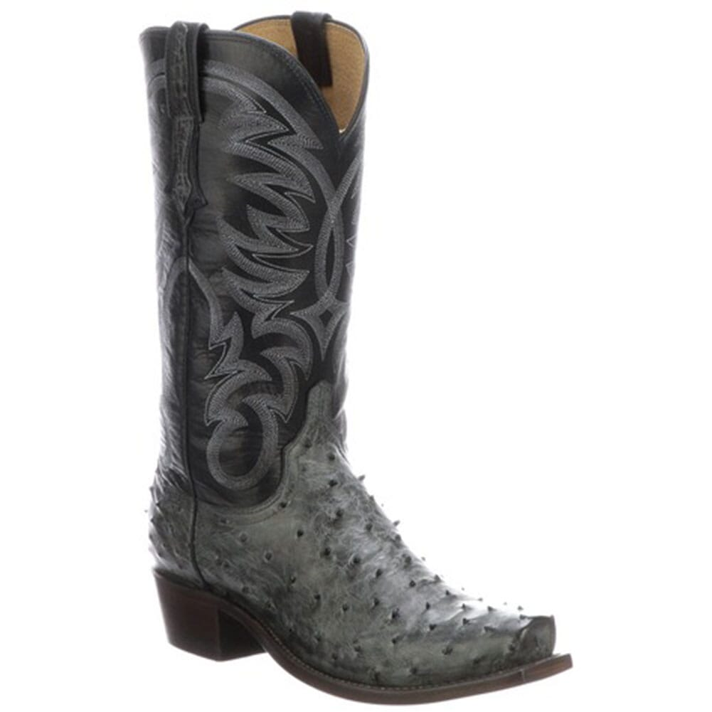 Image for Lucchese Men's Hugo Western Boots - Anthracite Grey/Navy from bootbay