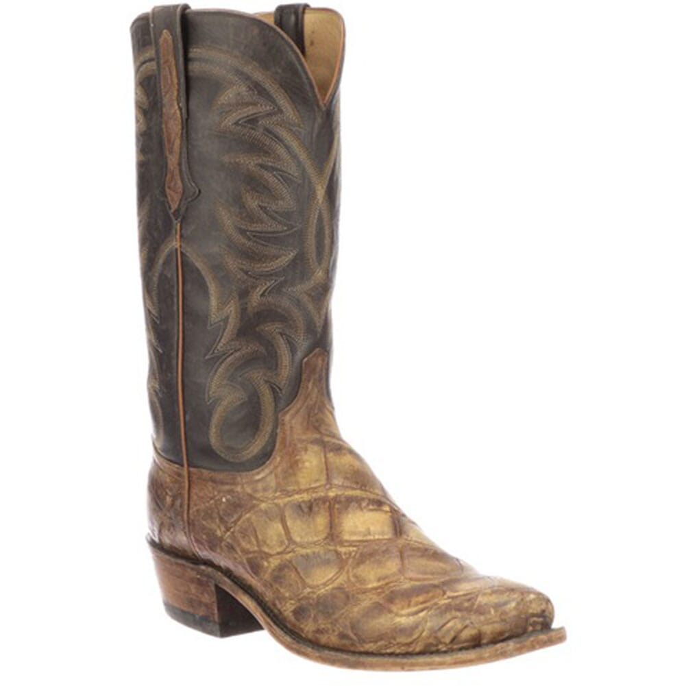 Image for Lucchese Men's Rodney Western Boots - Cognac/Chocolate from bootbay