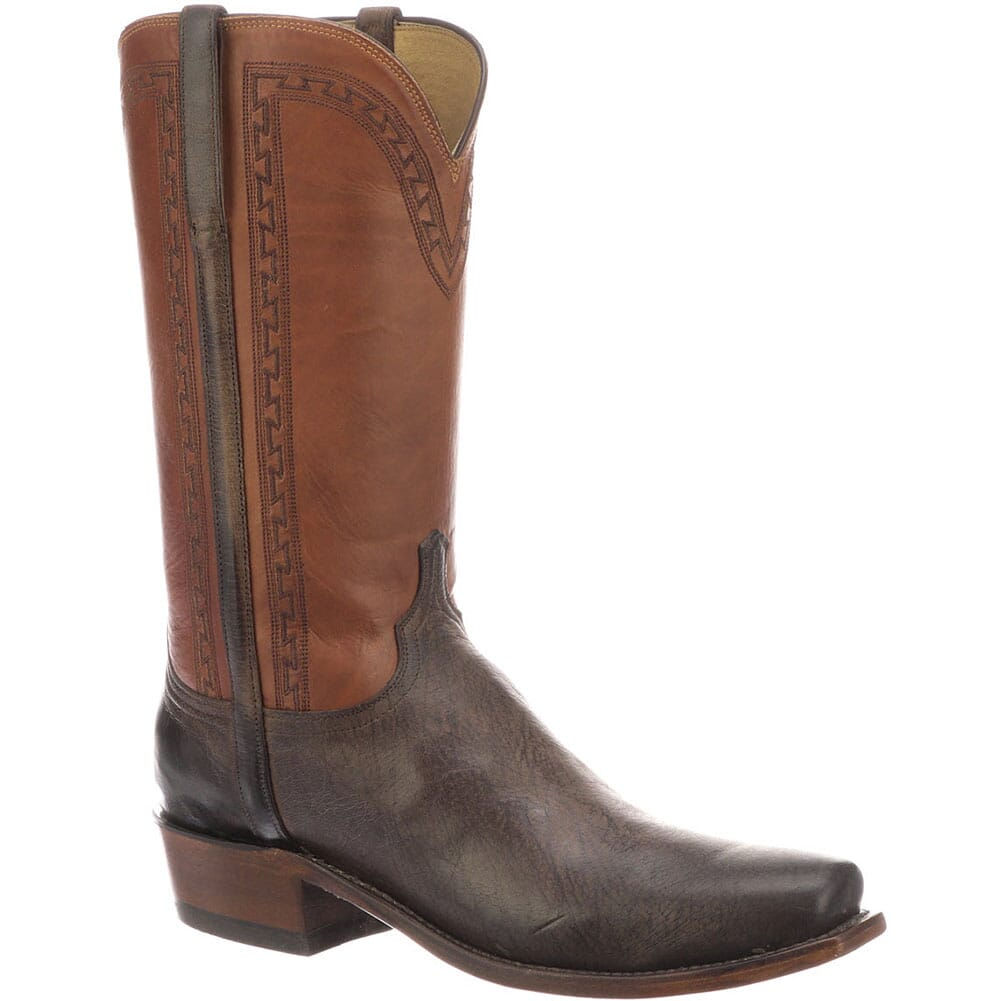 Image for Lucchese Men's Stanley Western Boots - Chocolate/Cognac from bootbay