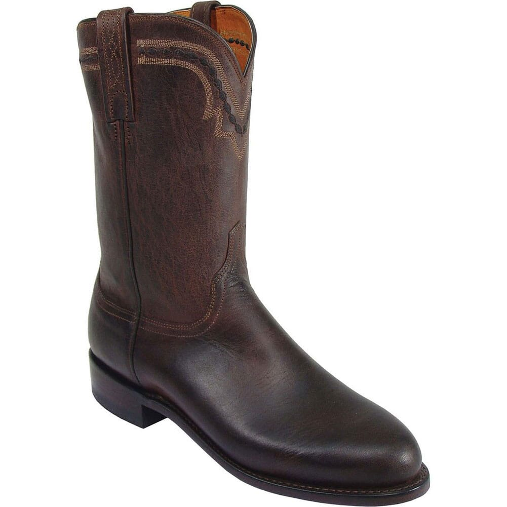 Image for Lucchese 1883 Men's Jasper Western Ropers - Chocolate from bootbay