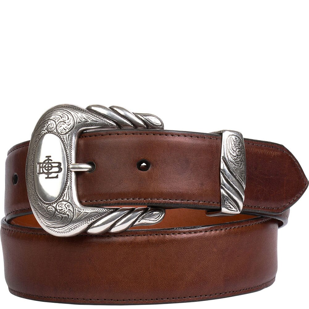 Image for Lucchese Men's Leather Western Belt - Tan Burnished from bootbay