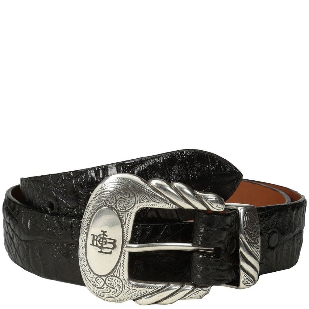 Image for Lucchese Men's Caiman Leather Western Belt - Black from bootbay