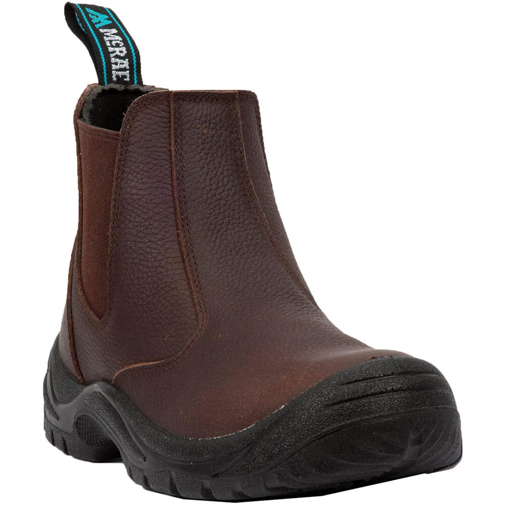 Image for McRae Men's Lathe Pull Up Safety Boots - Brown from bootbay