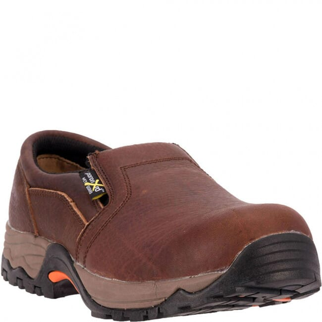 Image for McRae Men's Slip On Met Guard Safety Shoes - Brown from bootbay