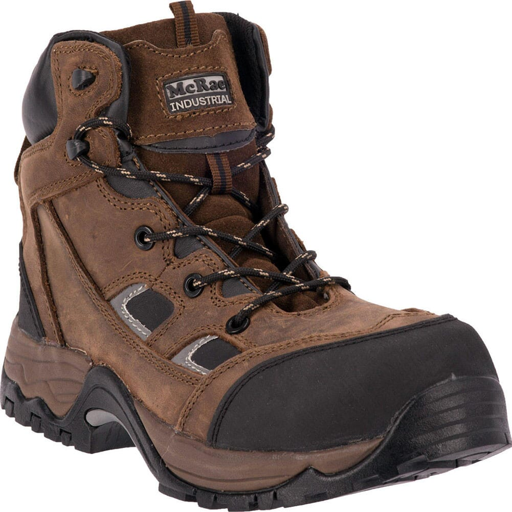 Image for McRae Men's Puncture Proof Safety Boots - Brown from bootbay