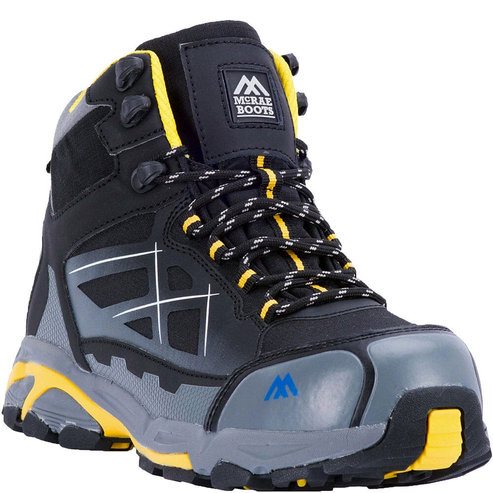 Image for McRae Men's Rebar WP Safety Boots - Black/Yellow from bootbay