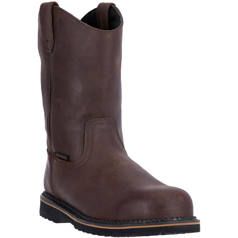 Image for McRae Men's Wellington Work Boots - Dark Brown from bootbay