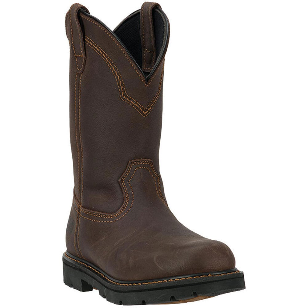 Image for McRae Men's Leather Safety Boots - Dark Brown from bootbay