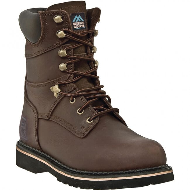 Image for McRae Men's 8IN EH Lace Up Safety Boots - Dark Brown from bootbay
