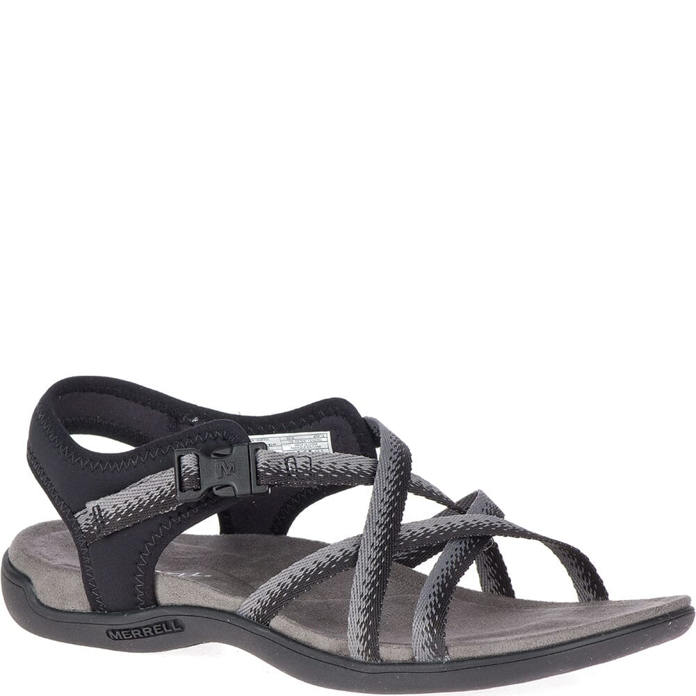 Image for Merrell Women's District Muri Lattice Sandals - Black/Charcoal from elliottsboots