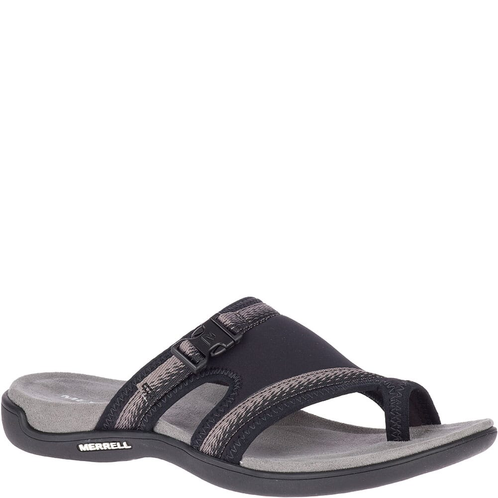 Image for Merrell Women's District Muri Wrap Slides - Black/Charcoal from elliottsboots