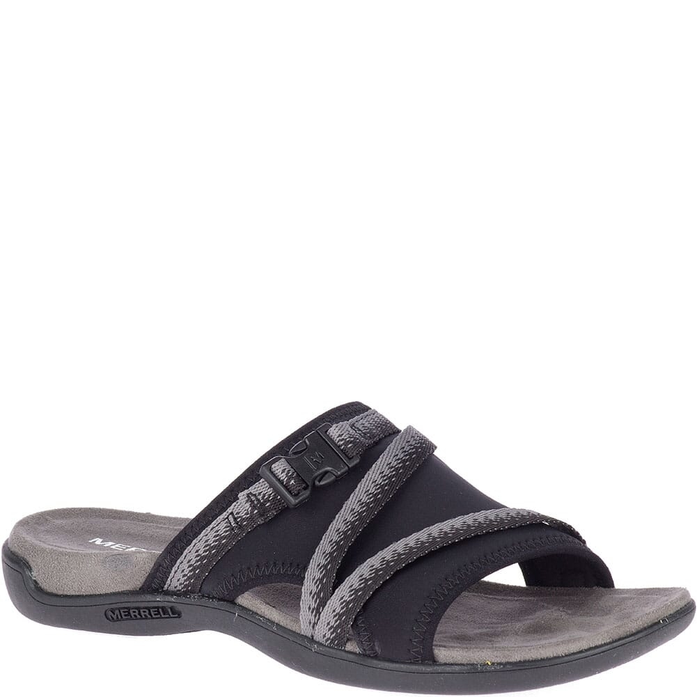 Image for Merrell Women's District Muri Slides - Black/Charcoal from elliottsboots