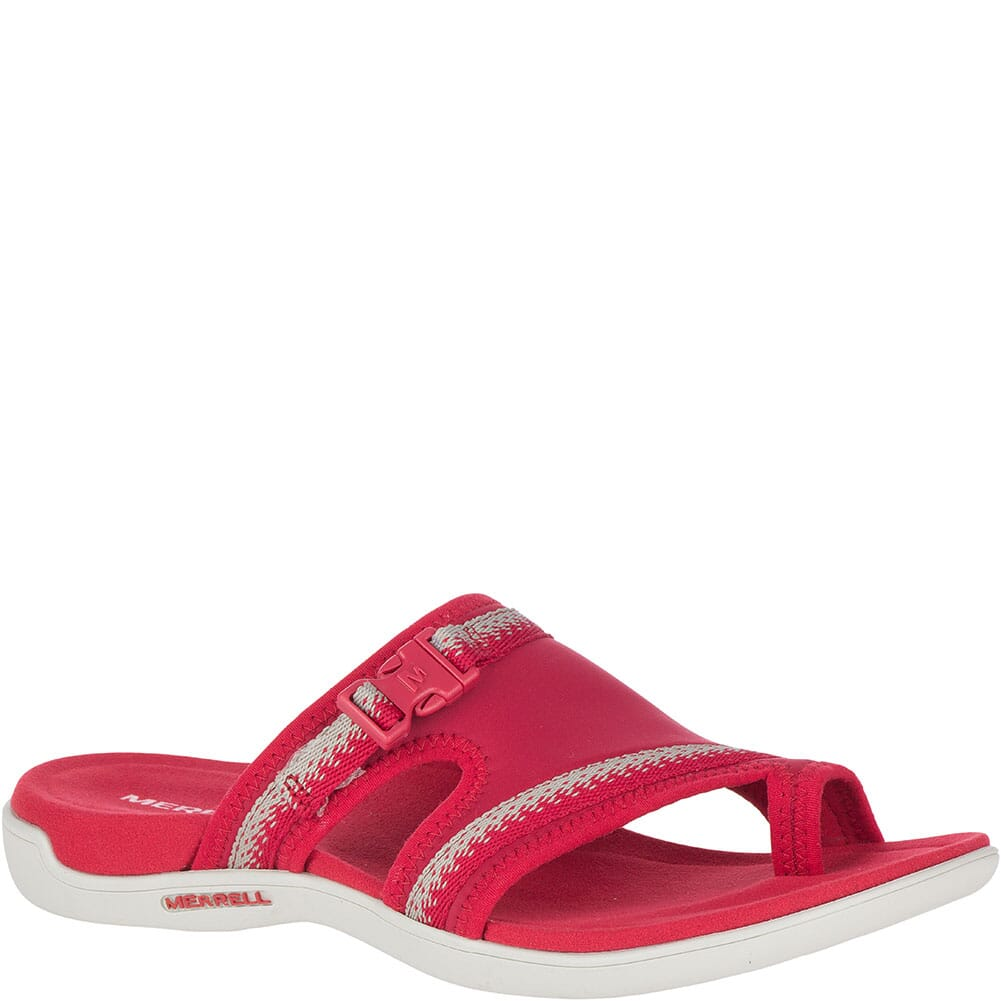 Image for Merrell Women's District Muri Wrap Slides - Chili from bootbay