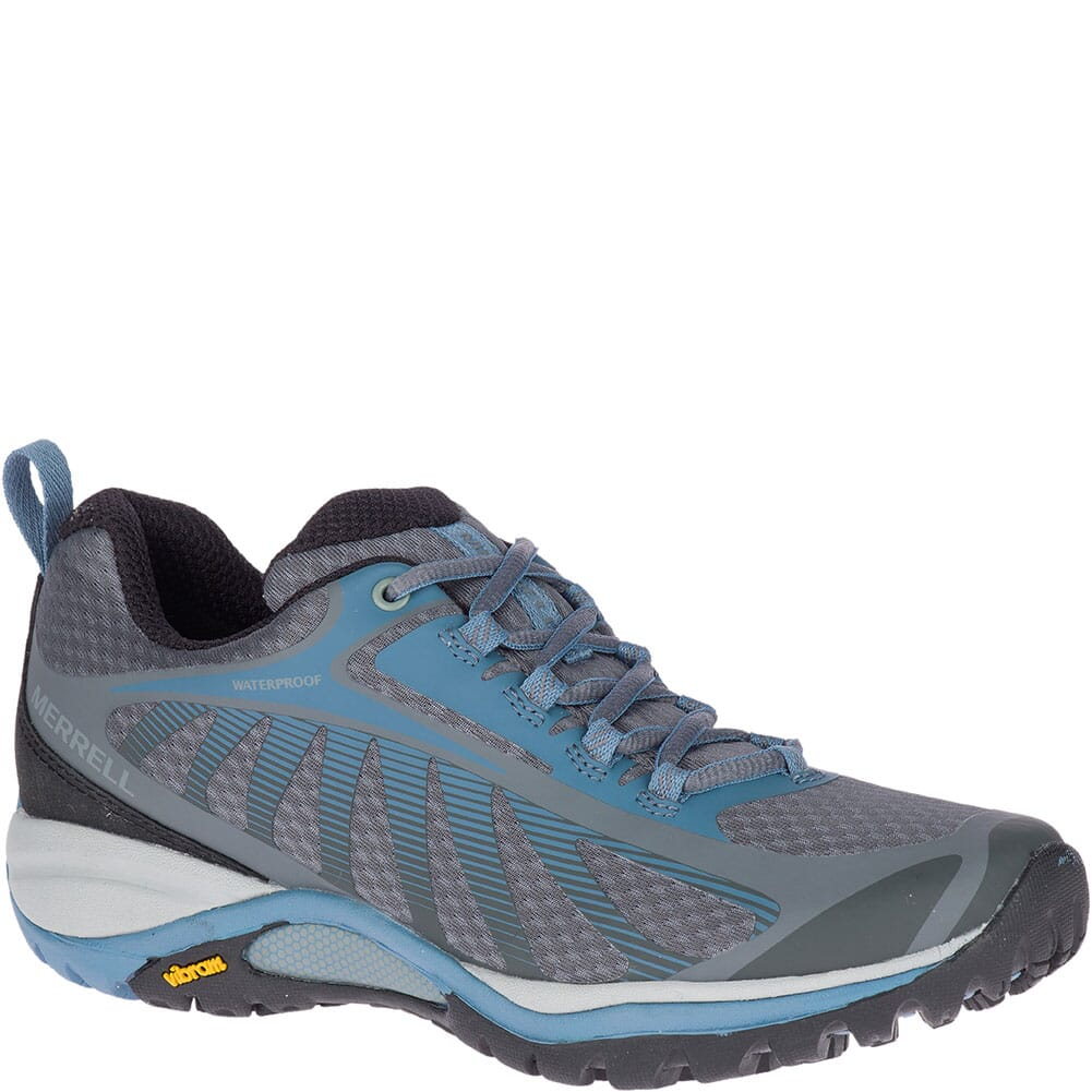 Image for Merrell Women's Siren Edge 3 WP Wide Hiking Shoes - Rock/Bluestone from bootbay