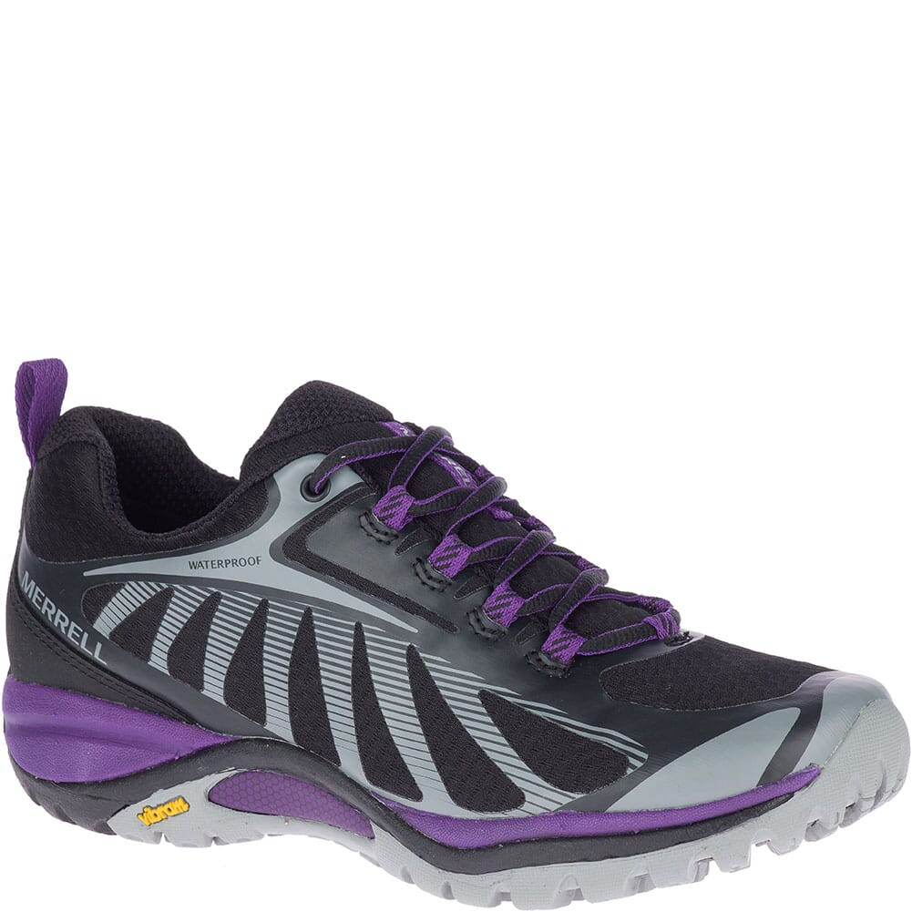 Image for Merrell Women's Siren Edge 3 WP Hiking Shoes - Black/Acai from bootbay
