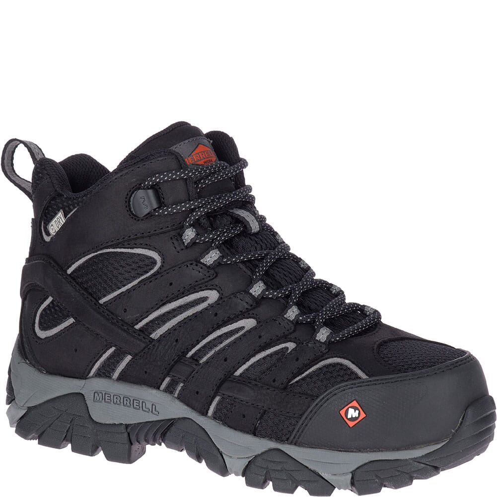 Image for Merrell Women's Moab Vertex Mid WP Safety Boots - Black from elliottsboots