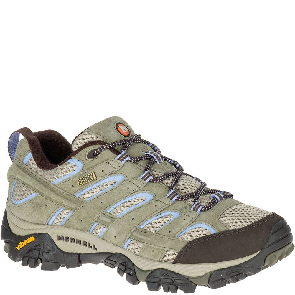 Image for Merrell Women's Moab 2 WP Wide Hiking Shoes - Dusty Olive from bootbay
