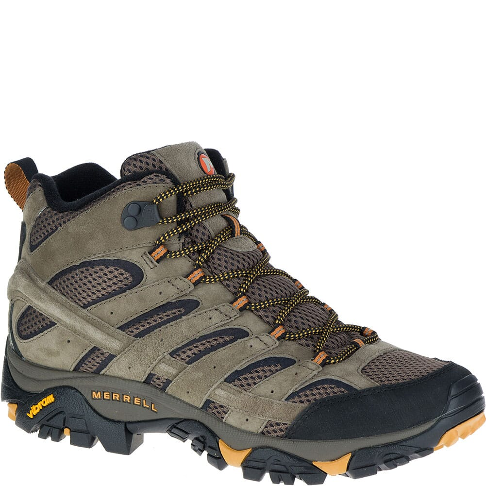 Image for Merrell Men's Moab 2 Mid Ventilator Wide Hiking Boots - Walnut from bootbay