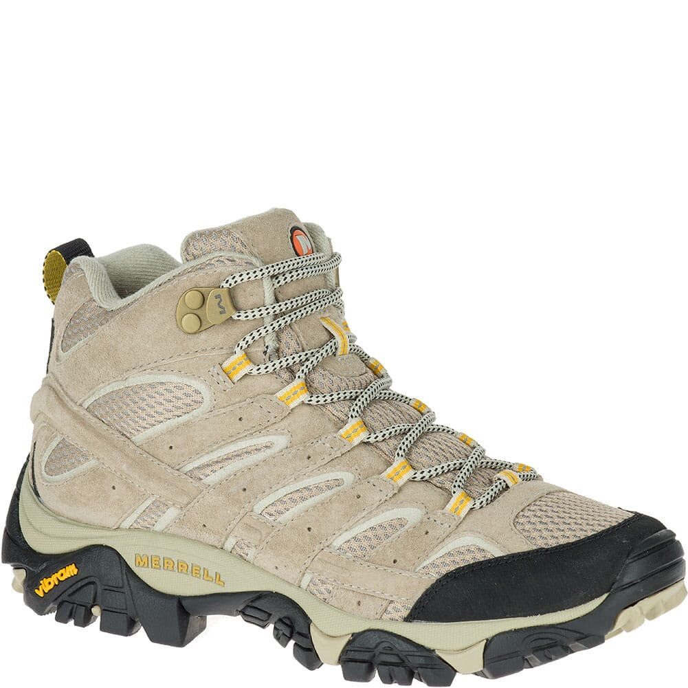 Image for Merrell Women's Moab 2 Mid Ventilator Wide Hiking Boots - Taupe from elliottsboots