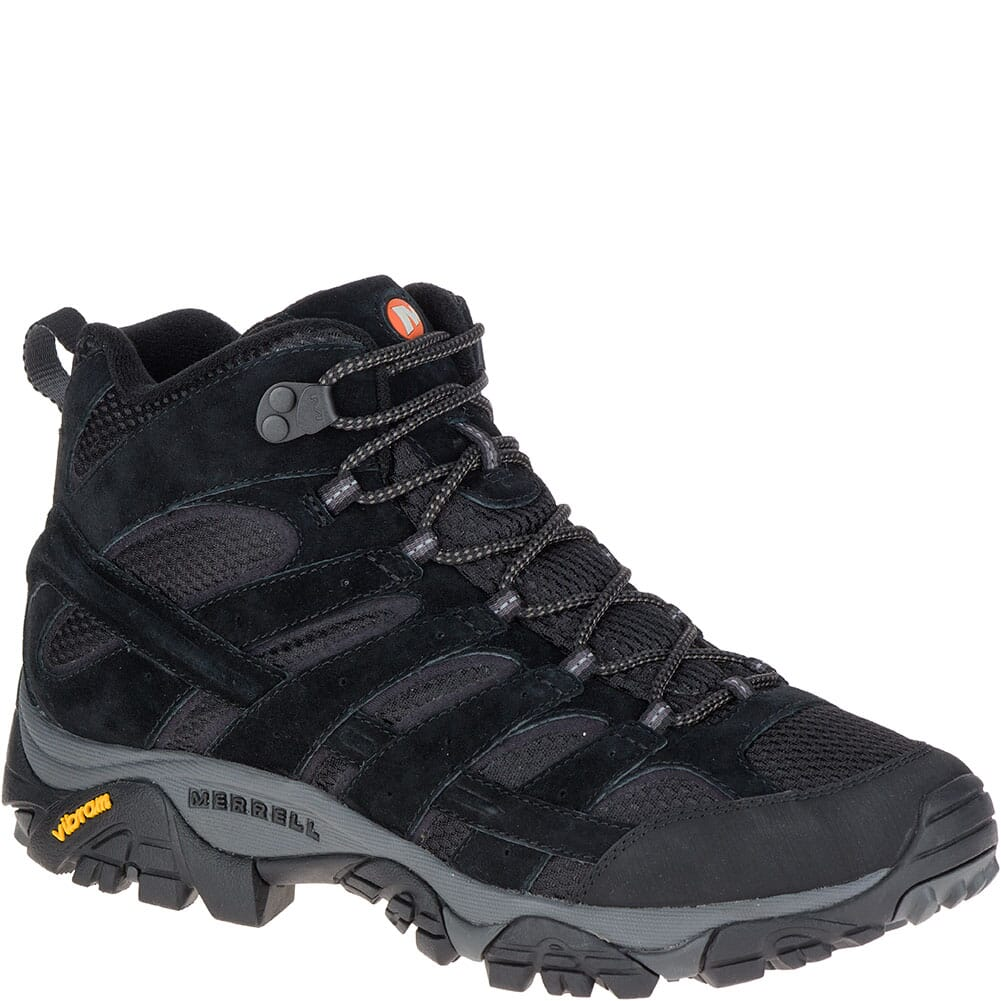 Image for Merrell Men's Moab 2 Mid Ventilator Wide Hiking Boots - Black Night from bootbay