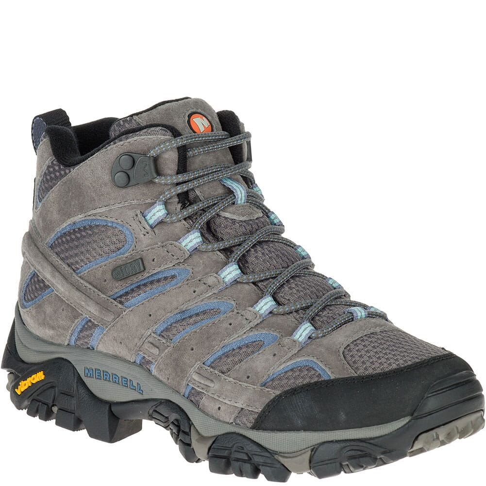 Image for Merrell Women's Moab 2 Mid WP Hiking Boots - Granite from bootbay