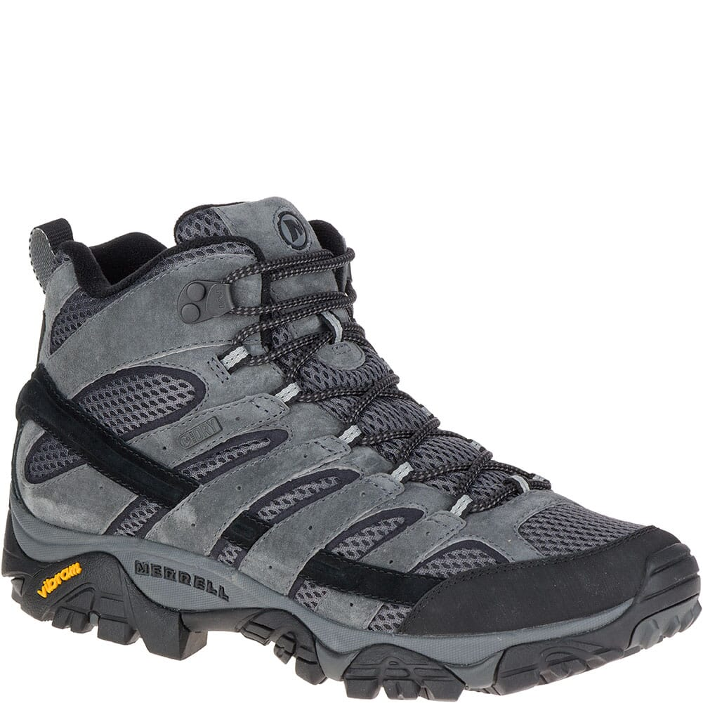 Image for Merrell Men's Moab 2 Mid WP Hiking Boots - Granite from bootbay