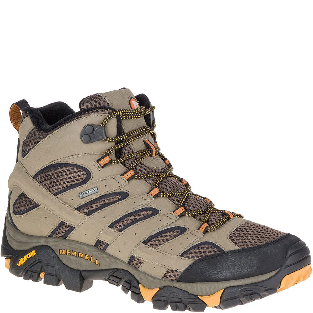 Image for Merrell Men's Moab 2 Mid GTX Wide Hiking Shoes - Walnut from bootbay