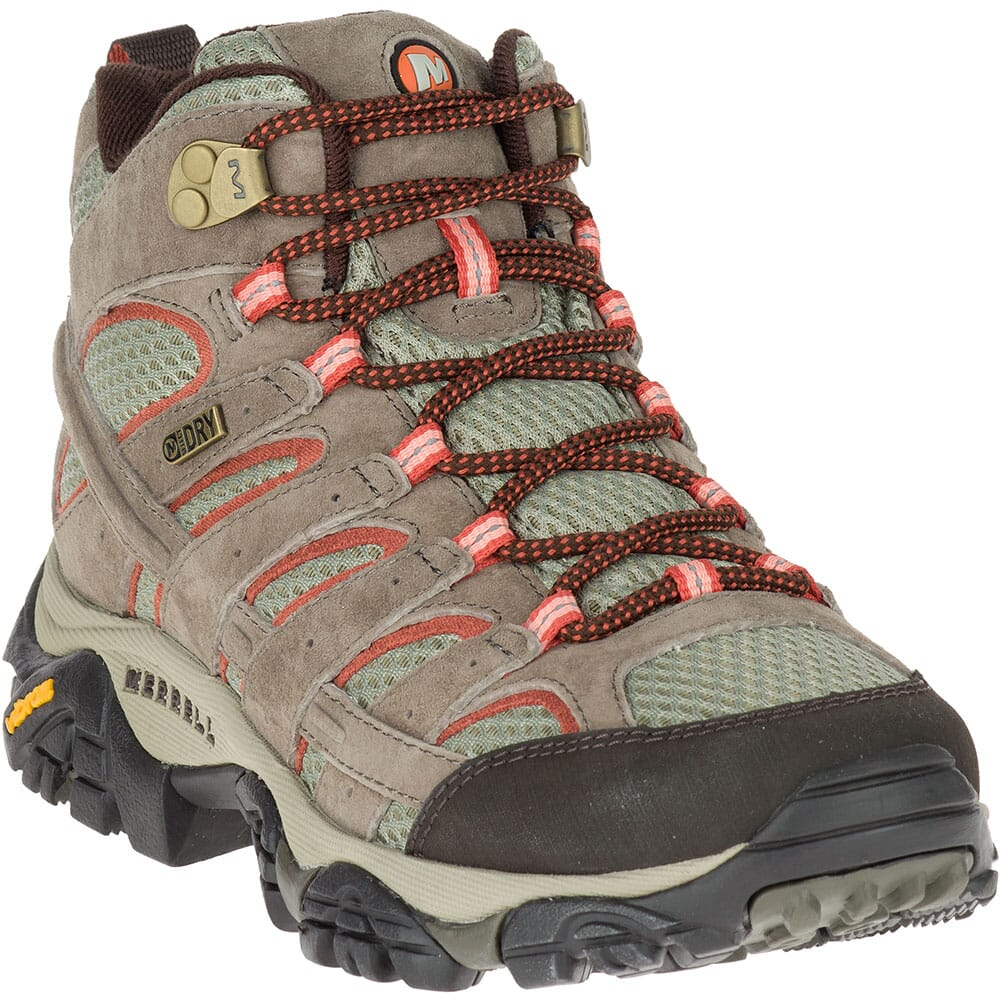 Image for Merrell Women's Moab 2 Mid Wide Hiking Boots - Bungee Cord from elliottsboots