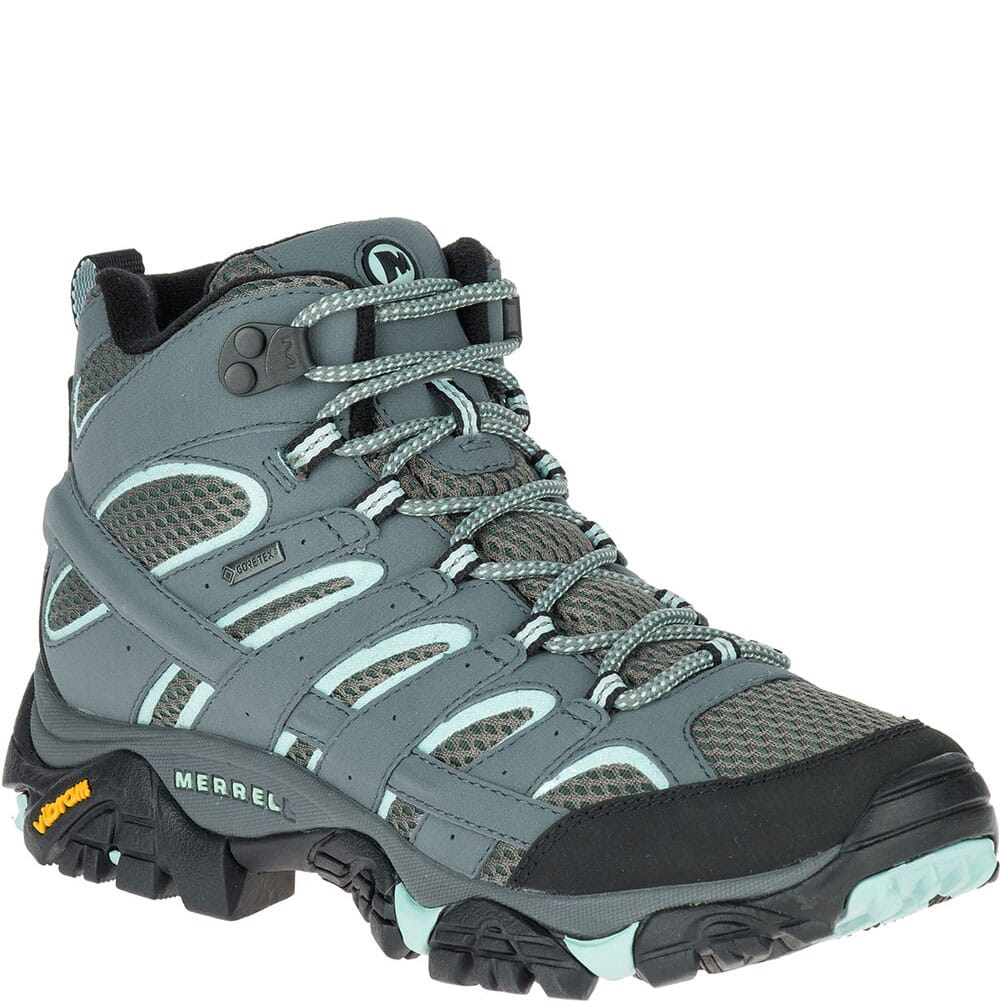 Image for Merrell Women's Moab 2 Mid GTX Wide Hiking Boots - Sedona Sage from elliottsboots