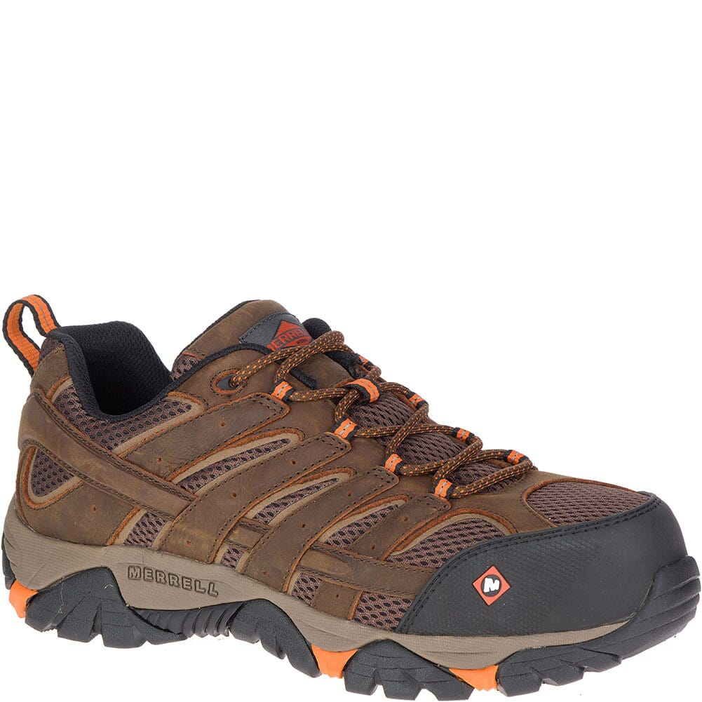 Image for Merrell Men's Moab Vertex Vent Wide Safety Shoes - Clay from bootbay