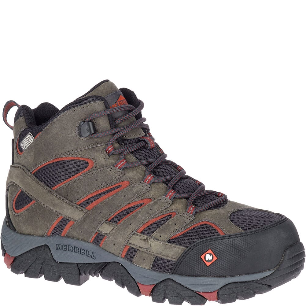 Image for Merrell Men's Moab Vertex Vent Safety Boots - Pewter from bootbay