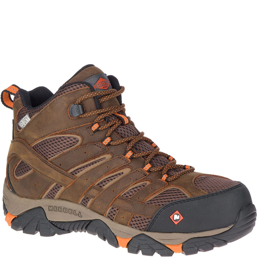 Image for Merrell Men's Moab Vertex Vent Wide Safety Boots - Clay from bootbay