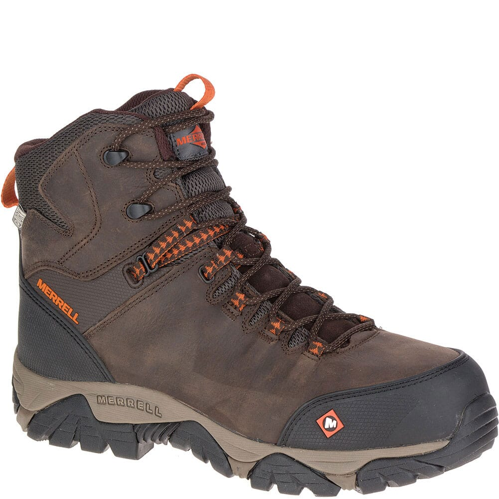 Image for Merrell Men's Phaserbound Mid WP Wide Safety Boots - Espresso from bootbay
