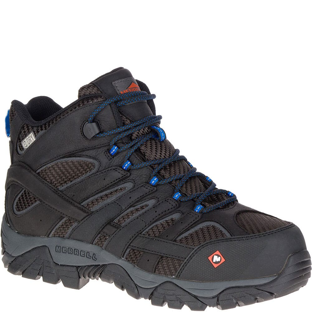 Image for Merrell Men's Moab 2 Vent Mid WP Wide Safety Boots - Black from bootbay