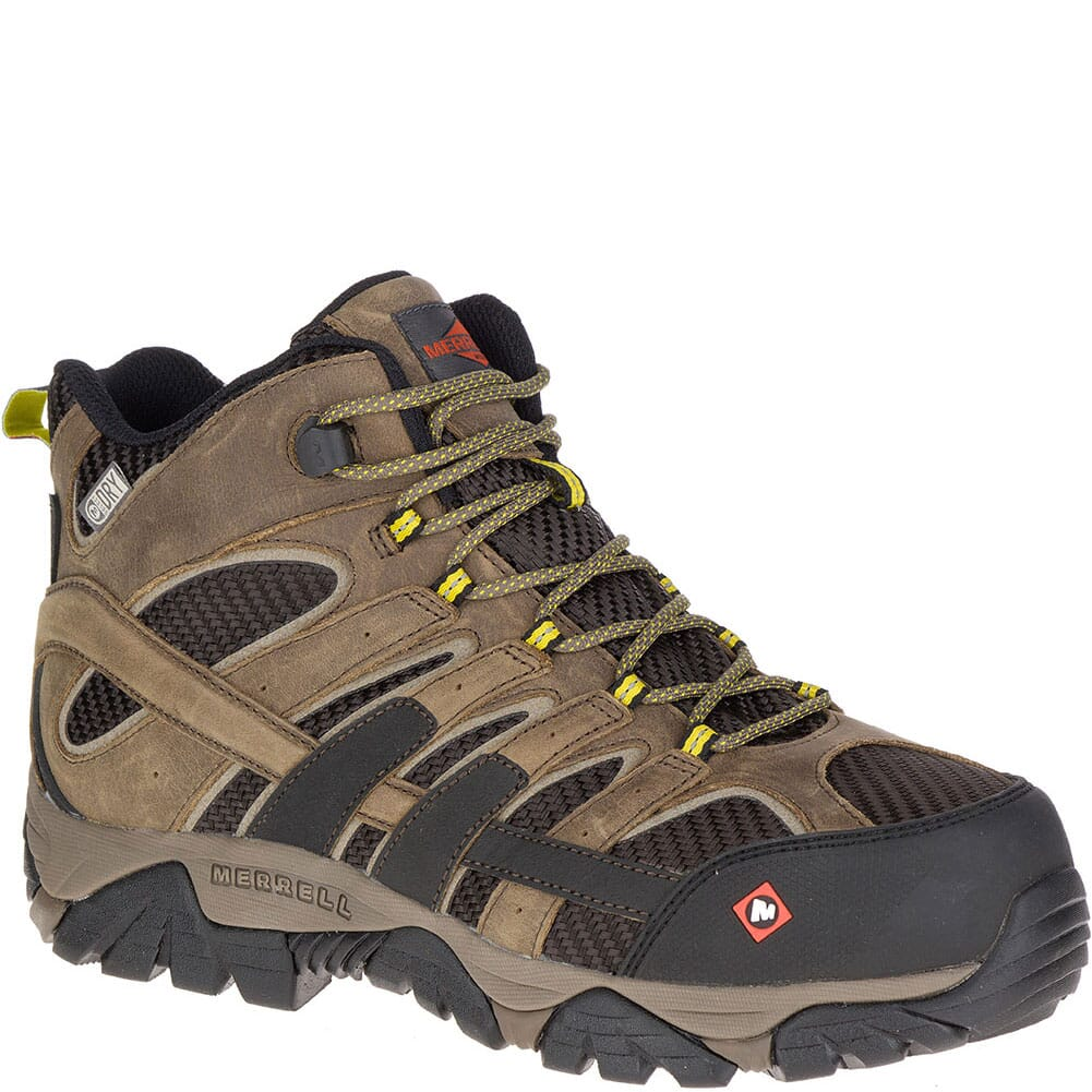 Image for Merrell Men's Moab 2 Vent Mid WP Wide Safety Boots - Boulder from bootbay