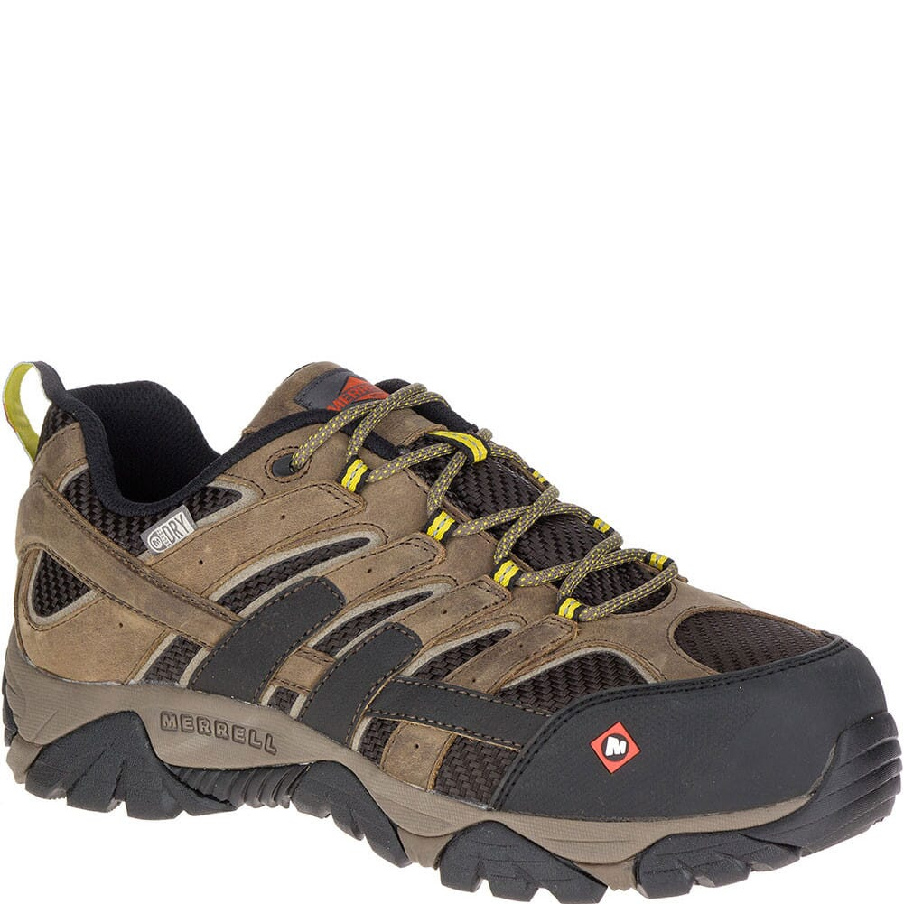 Image for Merrell Men's Moab 2 Vent WP Wide Safety Shoes - Boulder from bootbay
