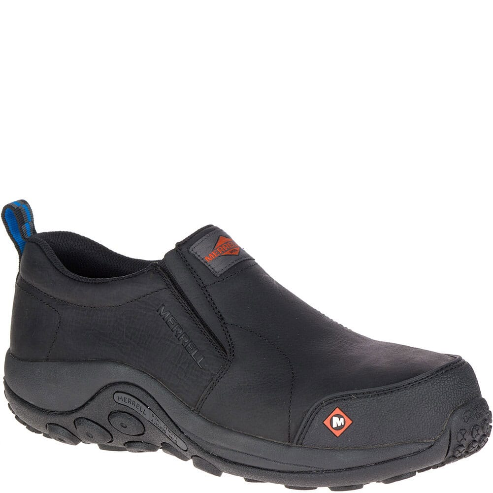 Image for Merrell Men's Jungle Moc Wide Safety Shoes - Black from bootbay