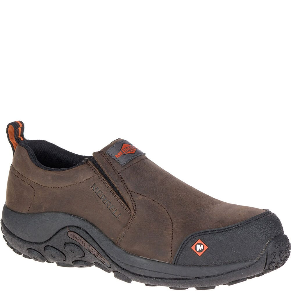 Image for Merrell Men's Jungle Moc Safety Shoes - Espresso from bootbay