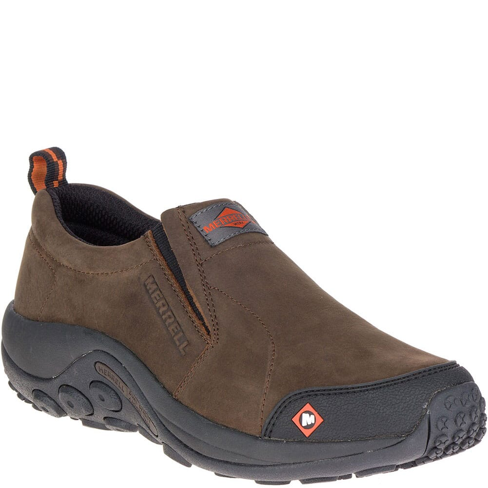 Image for Merrell Men's Jungle Moc Wide Work Shoes - Espresso from bootbay